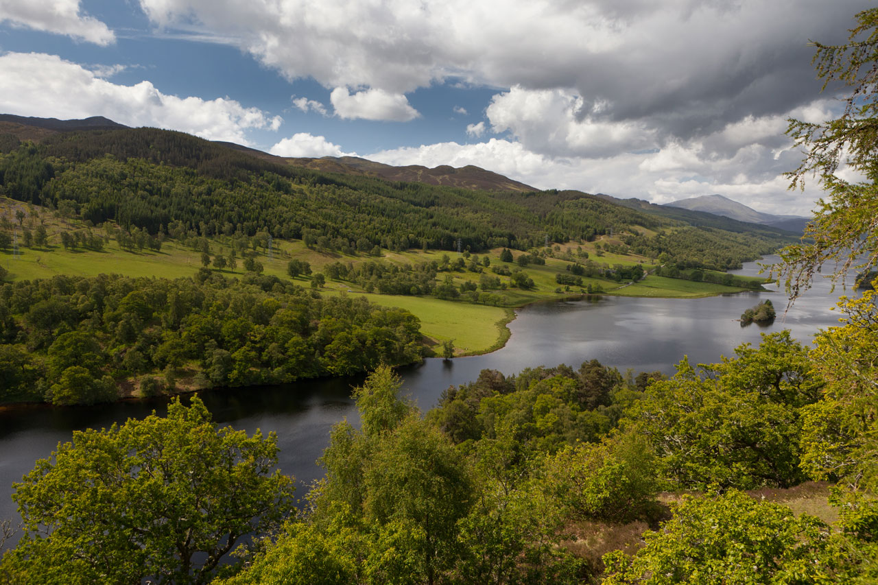 Queen's View am Loch Tummel, Schottland