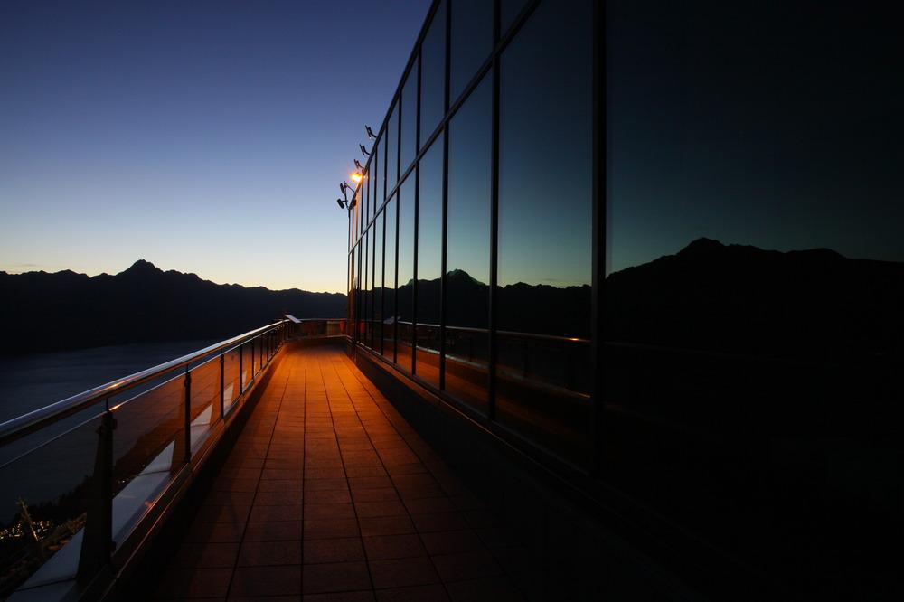 Queenstown Abendstimmung Bergstation Gondel