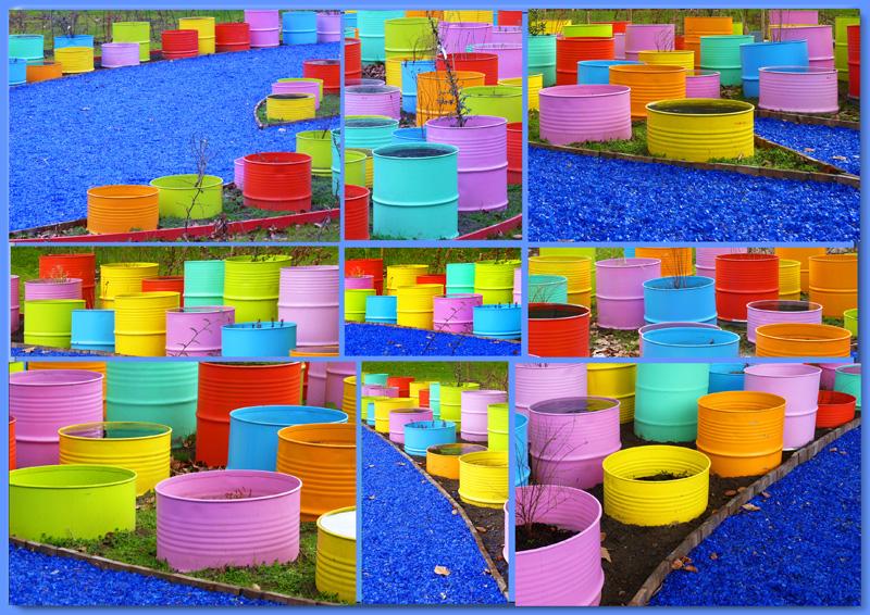Quelques tonneaux colorés