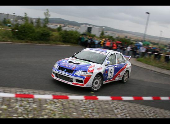 Quertreiber bei der Wartburg-Rallye '05 - Peter Corazza, Mitsubishi Lancer Evo 7