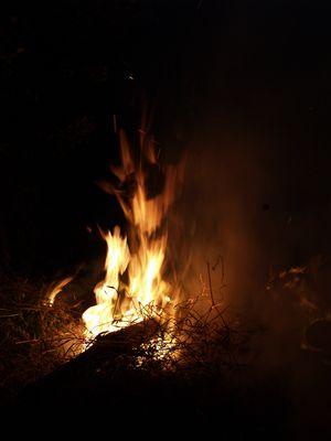 Qui se cache dans les flammes?