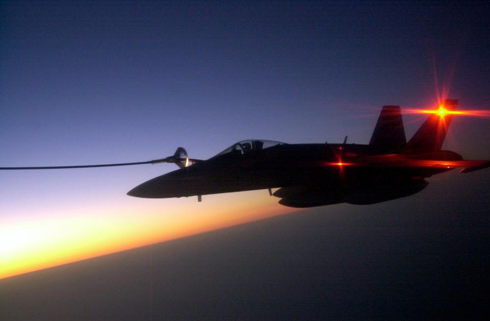 RAAF F18 refueling Ex. Pitch Black 2008