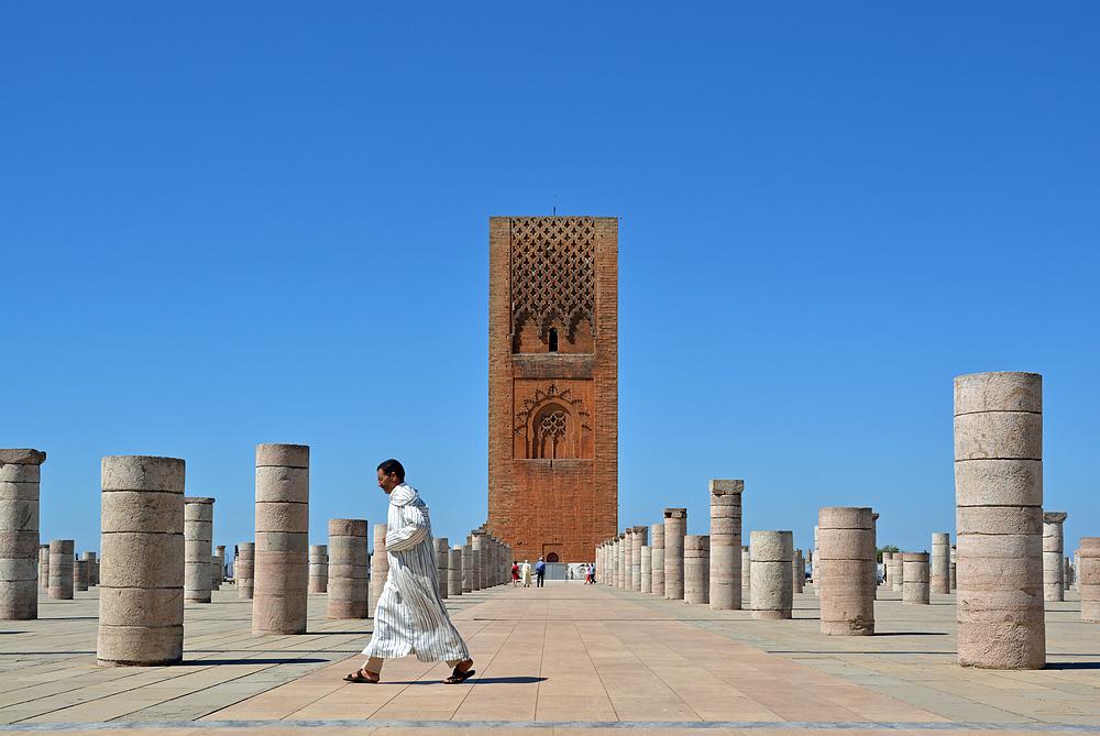 Rabat - Hassan-Moschee und Hassan-Turm