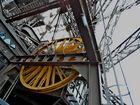 Rad des Aufzugs am Eiffelturm
