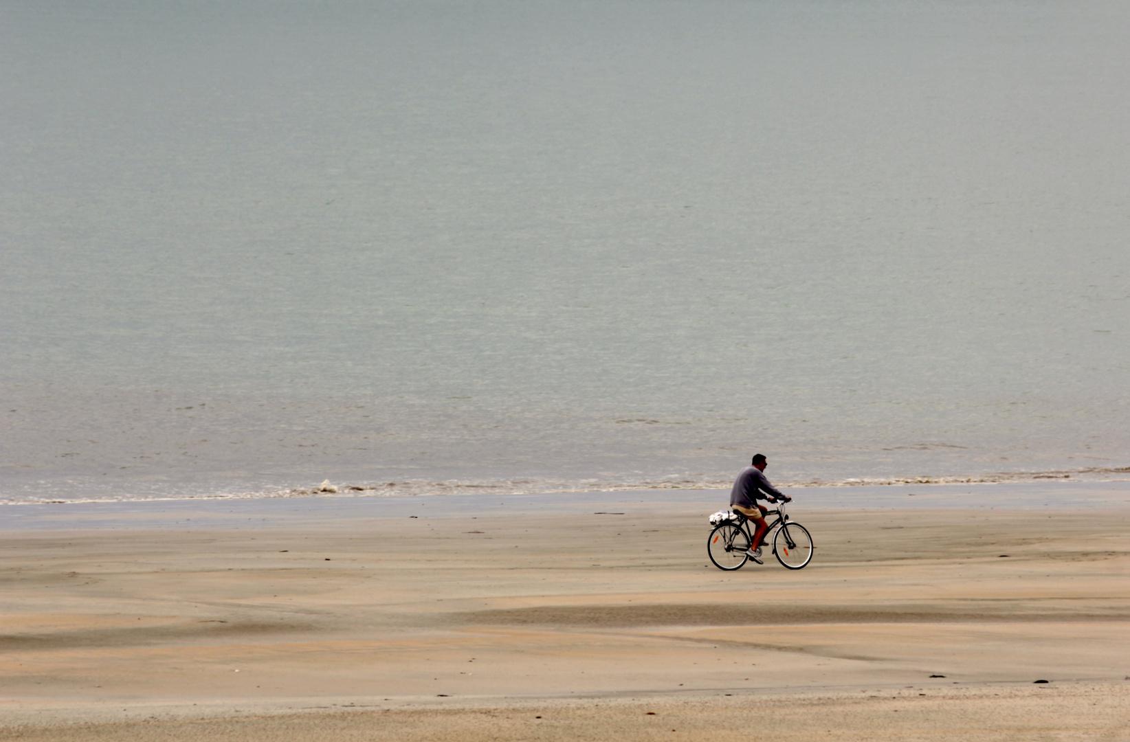 Radeln am Strand