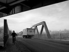 Radfahrer aus Zwölf Uhr