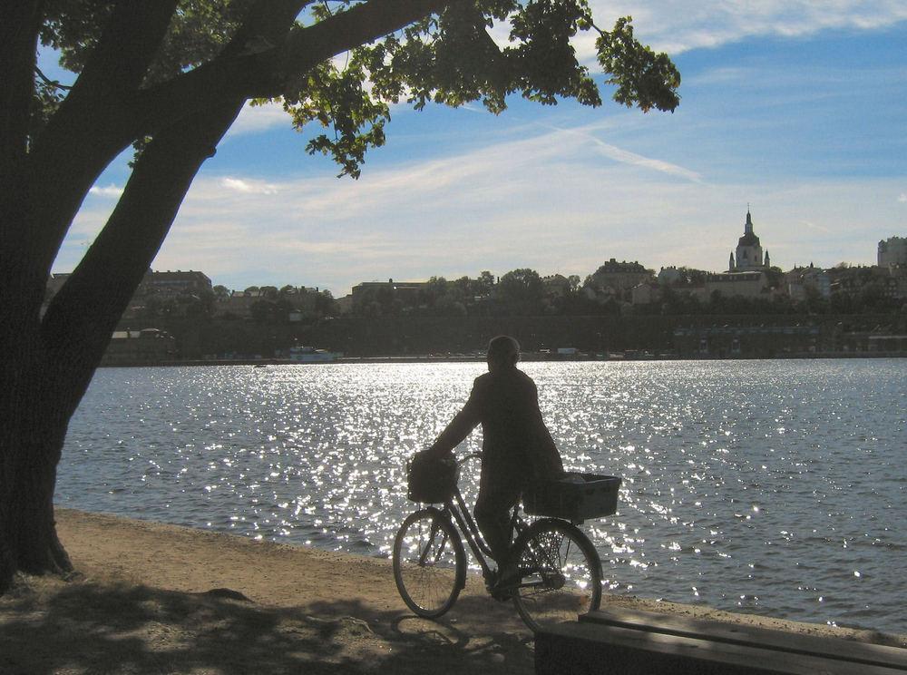 Radfahrer in Stockholm