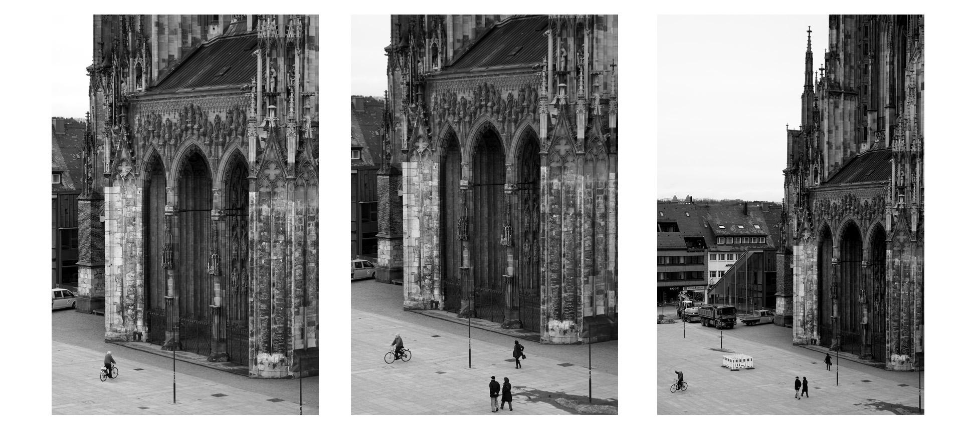 Radfahrer in Ulm