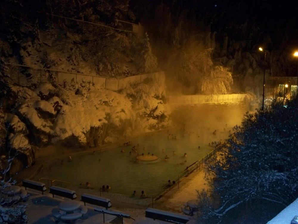 Radium Hot Springs in Kanada