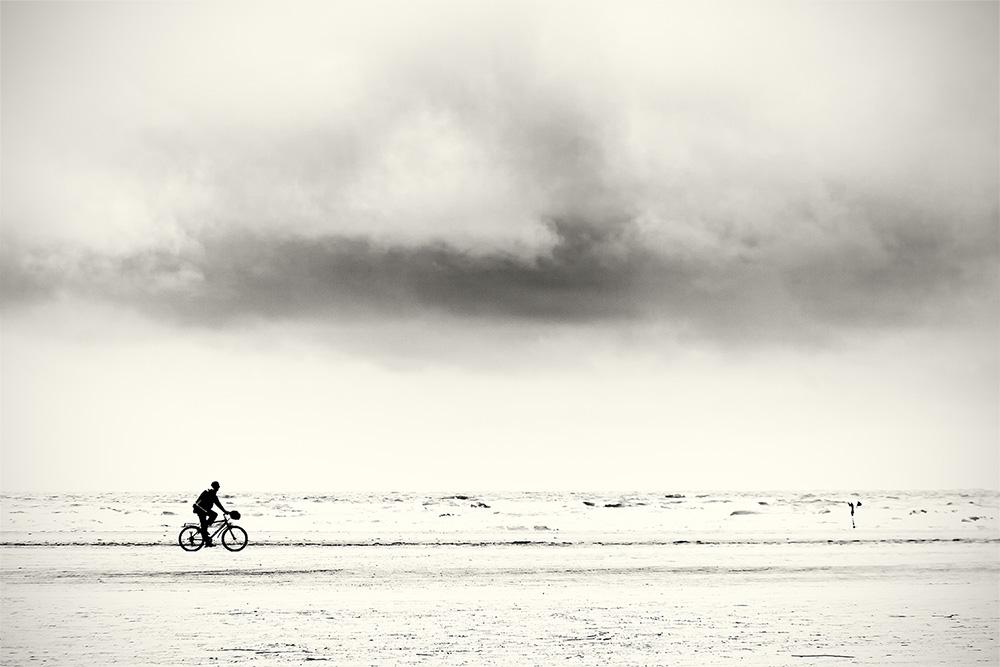 Radler am Meer