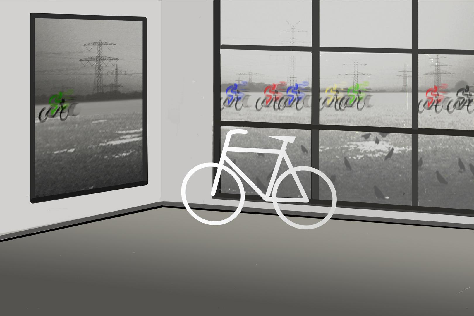 Radrennen - Der Nachzügler