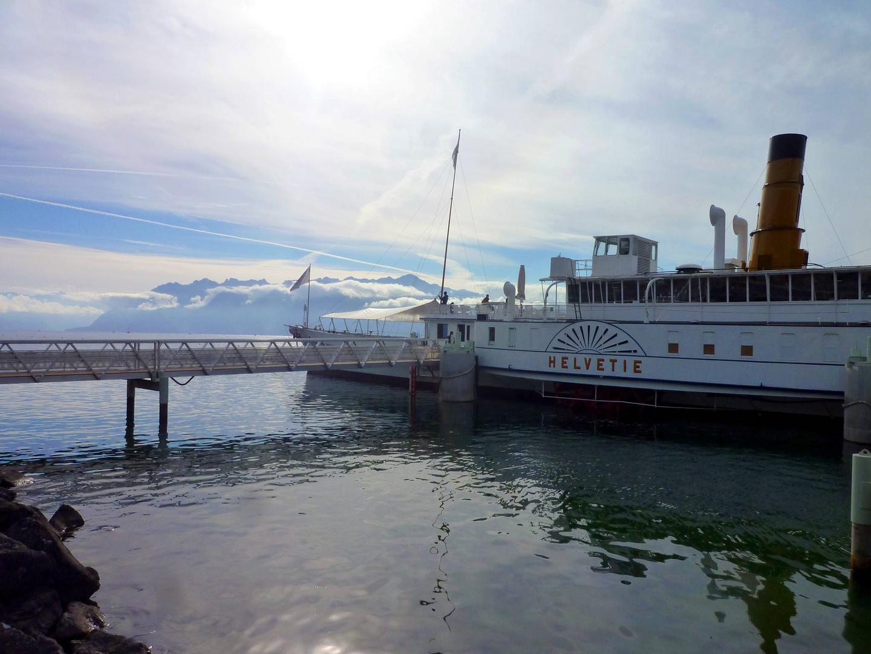 Radschiff Helvétie als Museum auf dem Genfersee ...
