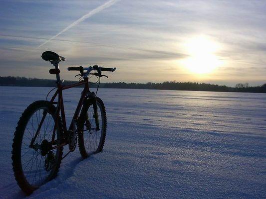 Radtour im Winter...