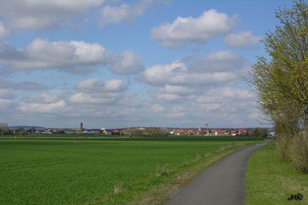 Radweg von Schwebheim nach Gochsheim