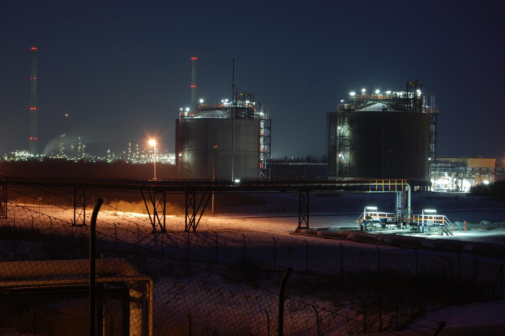 Raffinerie bei Wilhelmshaven