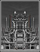 Raffinerie gespiegelt