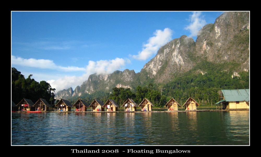 Rafthouses -  Racha Praba Lake