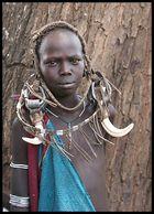 ragazza Mursi sud Etiopia
