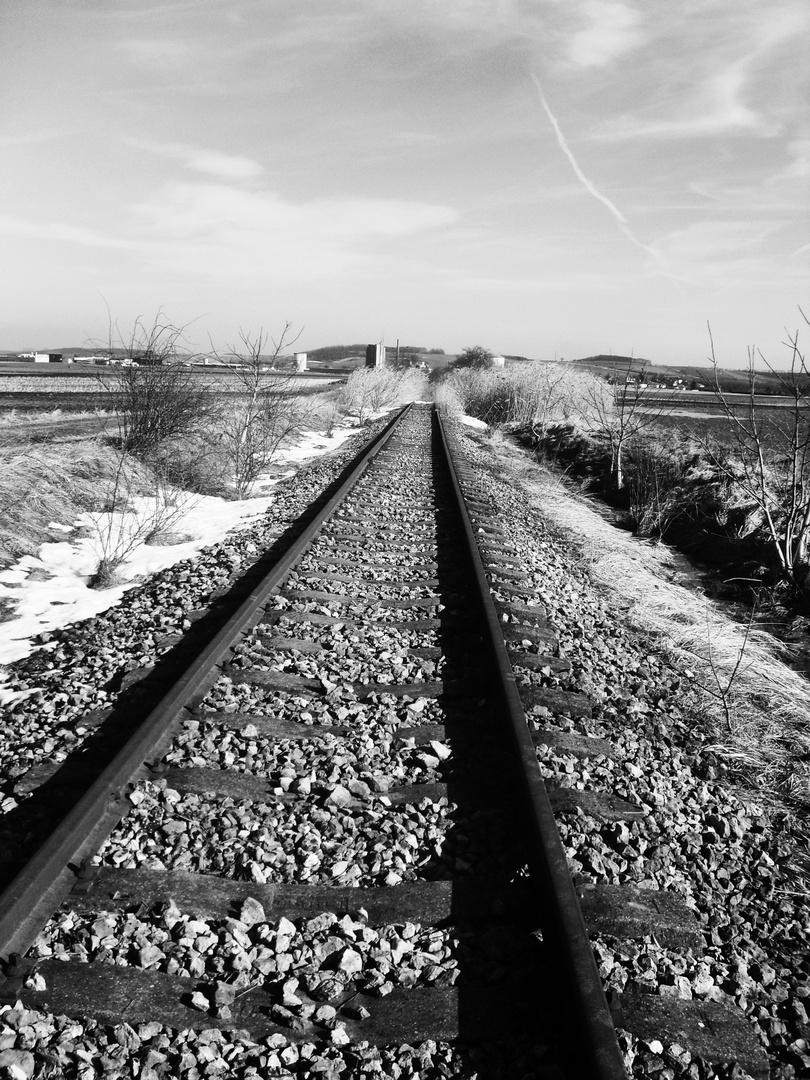 Rail black and white