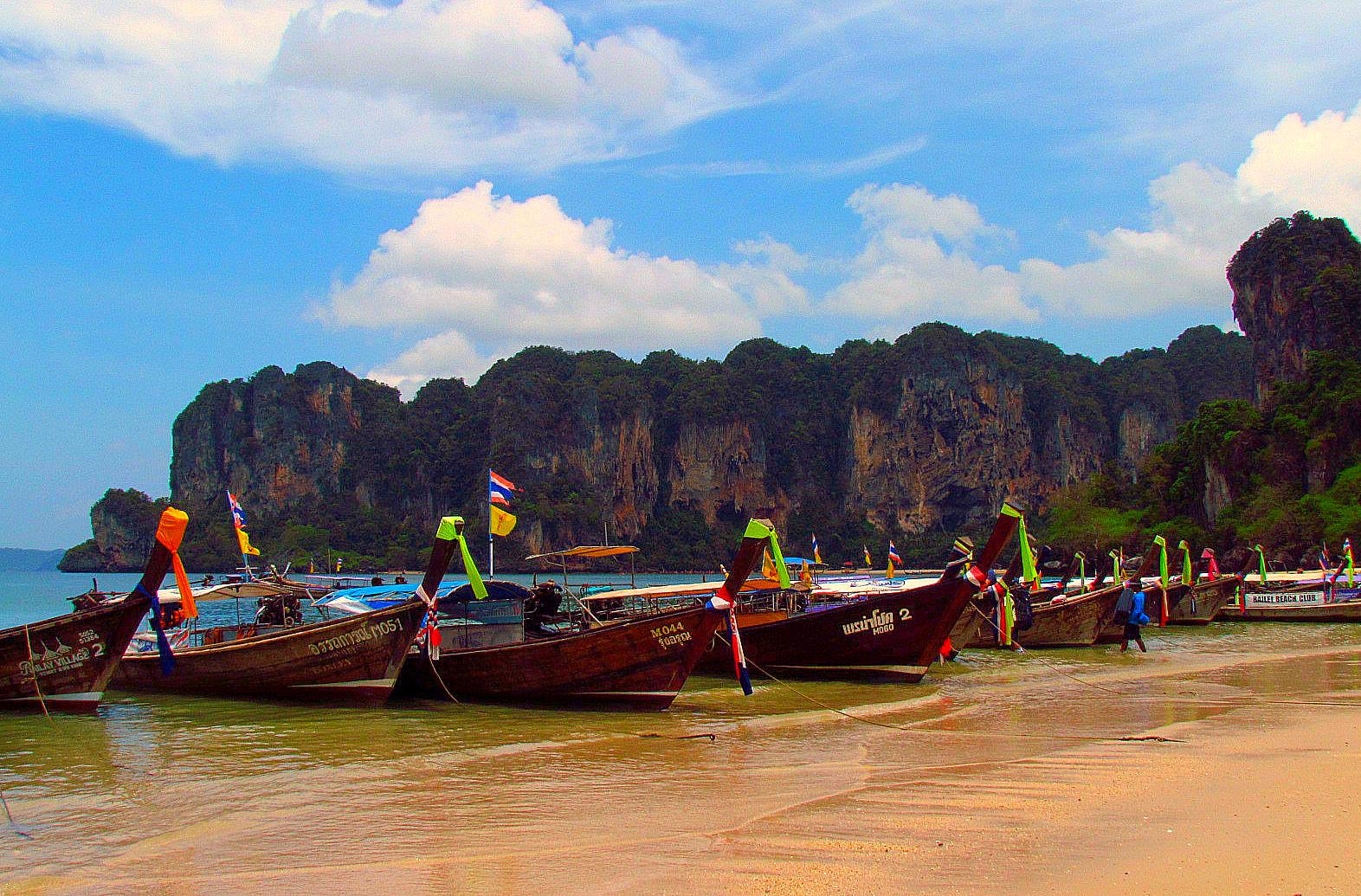 Railey Beach in der Provinz Krabi im Süden von Thailand