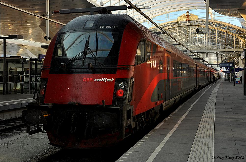 railjet nach Frankfurt