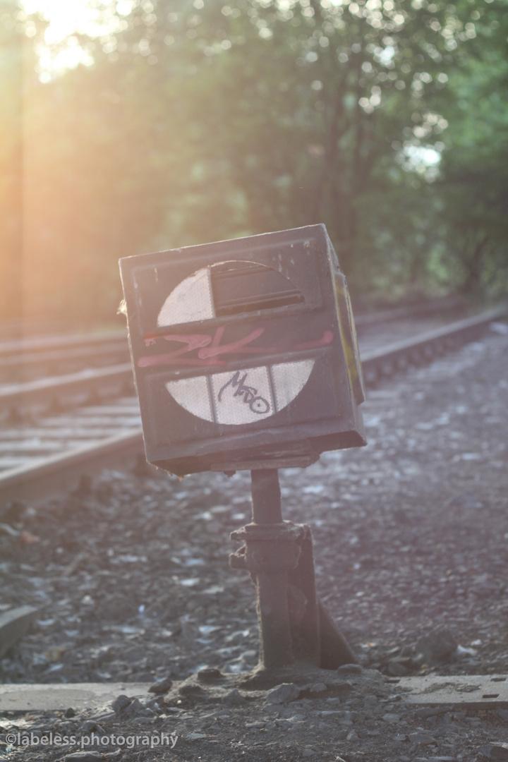 railroad sign.