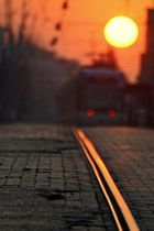 Rails rogents al morir el sol