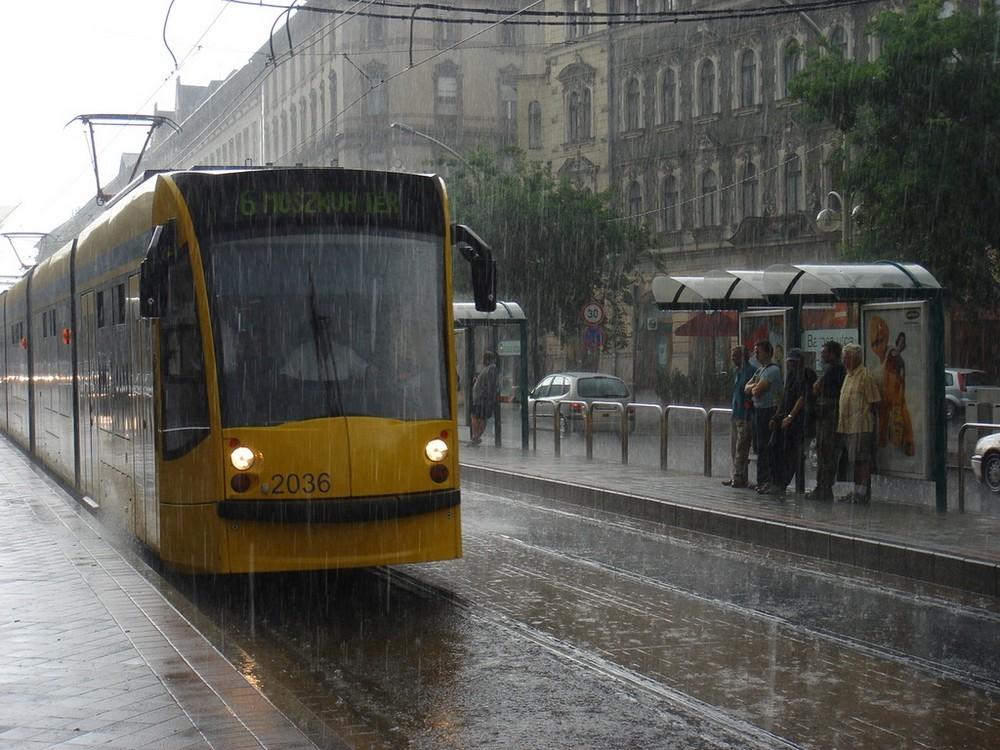 Rain in Budapest
