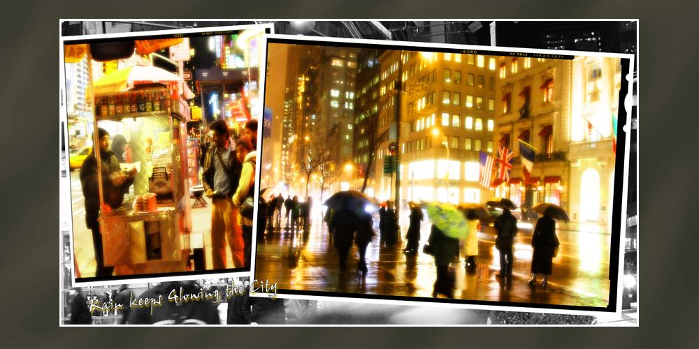 Rain keeps glowing the City