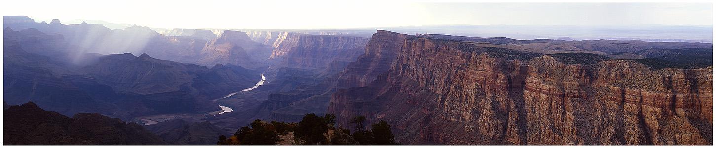 Rain over Grand Canyon