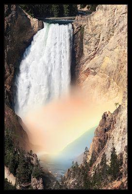Rainbow below Lower Falls