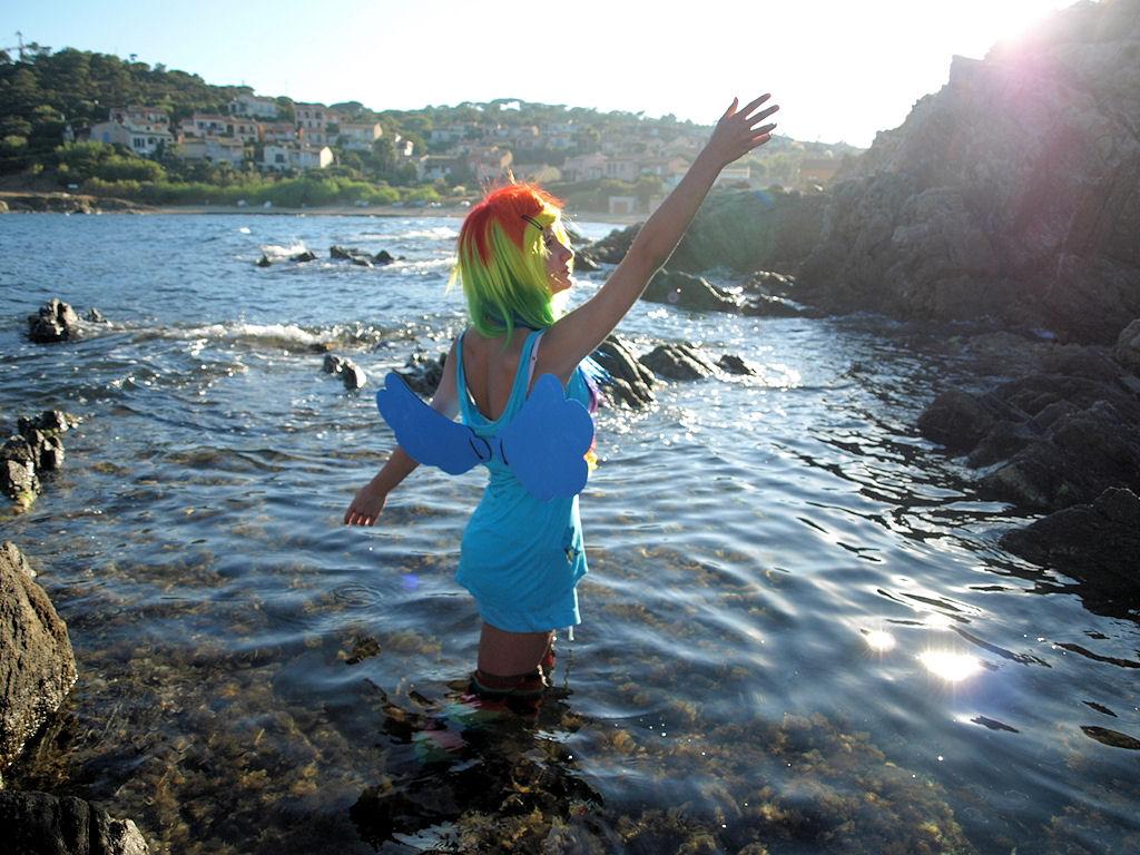 Rainbow - Dash - Shooting auf den Klippen von St. Tropez II