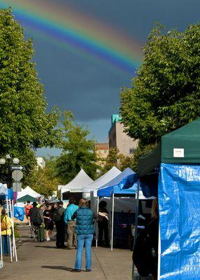 Rainbow in Oregon.