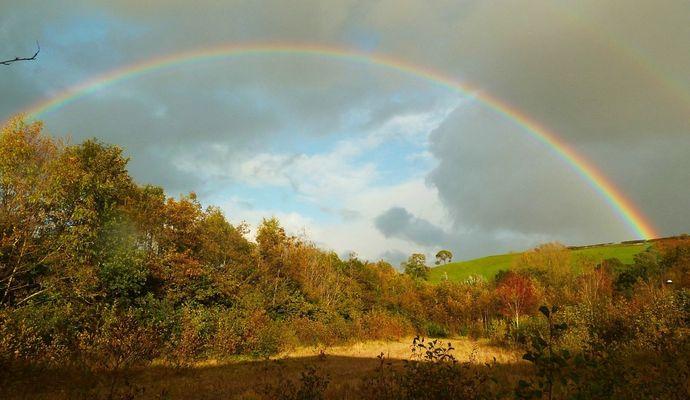 Rainbow over Llantristant 1