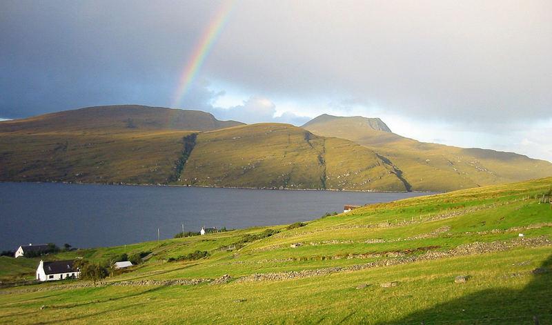 ...rainbow over Loch Broom...