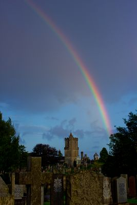 Rainbow over Old Town Cemetery, Stirling