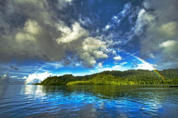 -Rainbow over Raja Ampat-