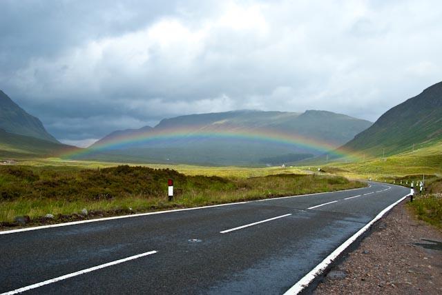 Rainbow over Scotland