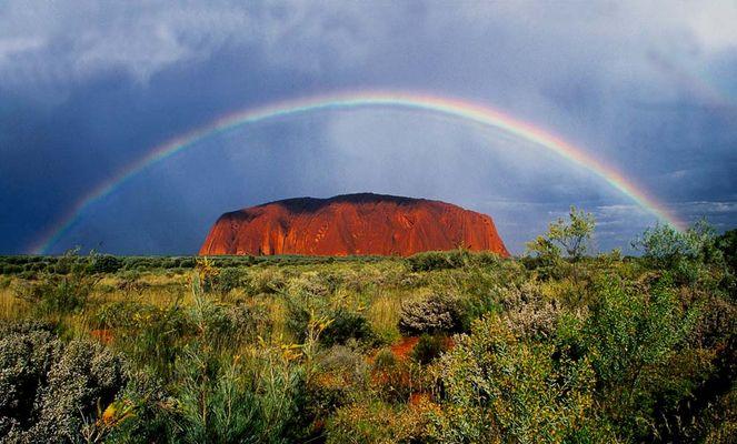 Rainbow over Uluru (Ayers Rock)