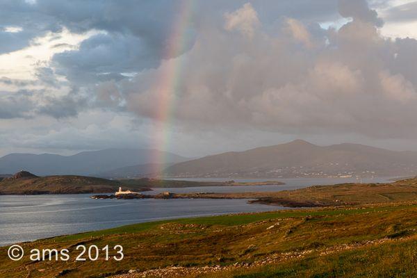 Rainbow over Valentia Lighthouse