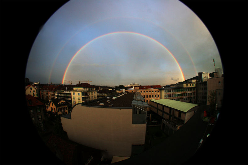 rainbow über berncity