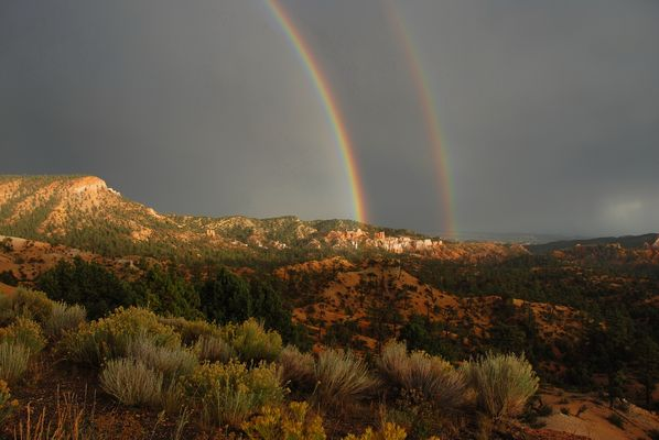 Rainbows - Highway 12 - Bryce Canyon - Utah