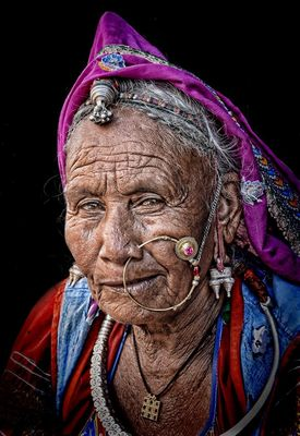 Rajasthani woman of the desert