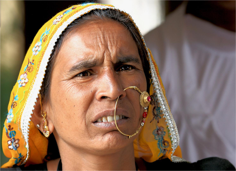 Rajputhin mit etwas strengem Blick