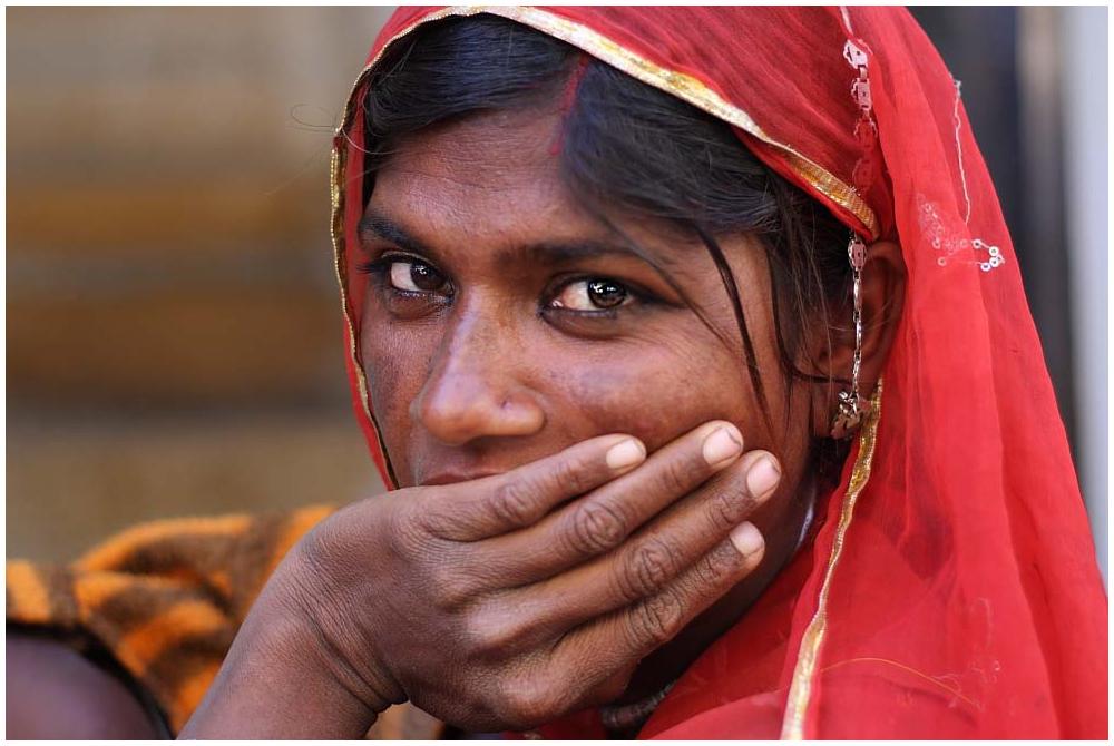 Rajputin aus Jaisalmer, Rajasthan