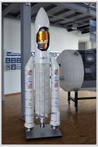 Rakete der ESA - Modell