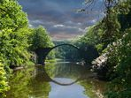 """Rakotzbrücke im Kromlauer Park oder im Volksmund """"Teufelsbrücke"""""""