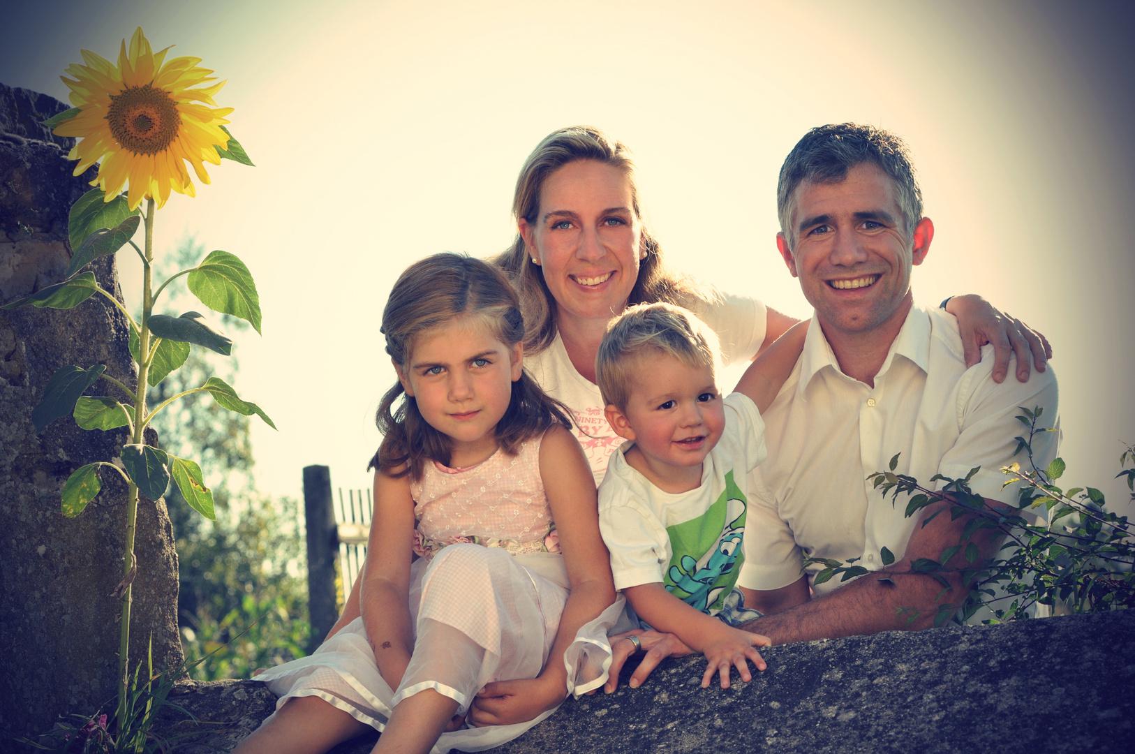 Ralph und Petra mit Kids