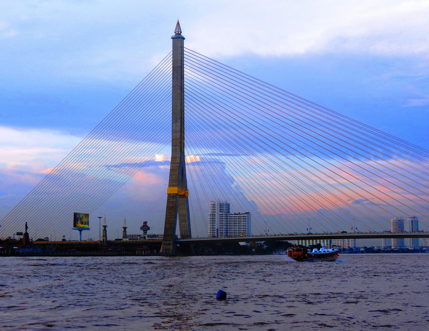 Rama-VIII Bridge in Bangkok