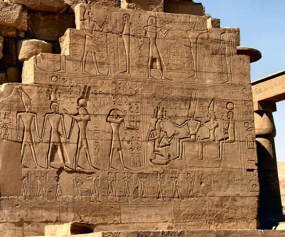 Ramesseum ( 2 ) - Reliefdarstellung